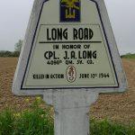 Saint-Martin-de-Varreville, panneau J. A. Long