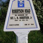 Saint-Martin-de-Varreville, panneau L. M. Robertson