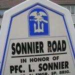 Sainte-Marie-du-Mont, panneau L. Sonnier