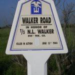Sainte-Marie-du-Mont, panneau N. Walker