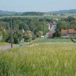 Saint-Lambert-sur-Dive, l'entrée ouest de la ville