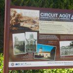 Aubry-en-Exmes, panneau circuit Août 44