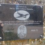 Rânes, stèle 3rd US AD et 2nd Lt Giamalva