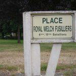 Gavrus, panneau Royal Welch Fusiliers