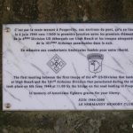 Sainte-Marie-du-Mont, stèle de la jonction