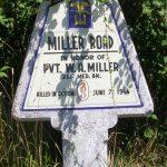 Sainte-Marie-du-Mont, panneau W. Miller