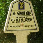 Sainte-Marie-du-Mont, panneau W. Mc Gowan