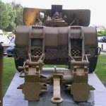 Saint-Laurent-sur-Mer, musée mémorial d'Omaha Beach - canon allemand PAK 43