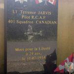 Ceaucé, stèle Lieutenant Terrance Jarvis
