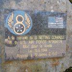 Saint-Michel-des-Andaines, stèle Lt Conrad Netting