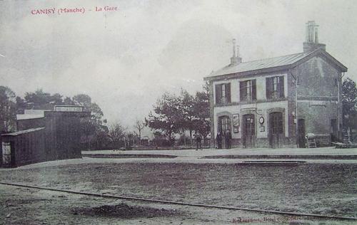 Gare de Canisy dans les années 40