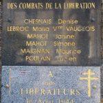 Champsecret, plaque de la Libération