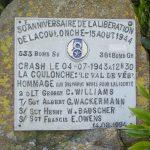 La Coulonche, stèle aviateurs américains