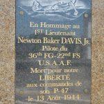 Le Grais, stèle Lieutenant Davis Jr