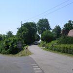 Guerquesalles, le carrefour de la D16 vers Chambois
