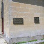 Guerquesalles, plaque Warrant Officer Ronald Gilbert