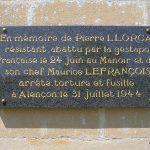 Guerquesalles, plaque Résistants français
