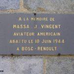 Le Bosc-Renoult, plaque 1st Lieutenant Vincent Massa