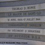 Saint-Lô, monument Major Howie
