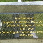 Bavent Le Mesnil, plaque Brigadier Hill