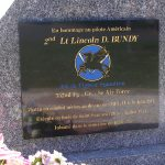 Crulai, stèle 2nd Lieutenant Bundy