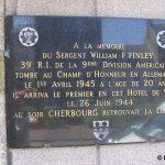 Cherbourg-en-Cotentin, plaque Sergeant Finley