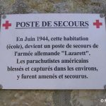 Gourbesville, plaque Feld Lazarett