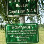 Amfreville Cauquigny, plaques Captain Rae et 325th GIR