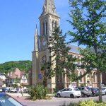 Houlgate, l'église Saint-Aubin du XIXe siècle