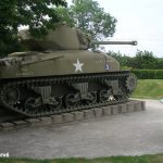 Nehou, camp Patton, char Sherman M4 A1