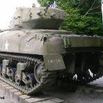 Nehou, camp Patton, char Sherman M4 A1