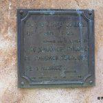 Nehou, camp Patton, stèle General Patton