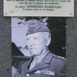 Nehou, camp Patton, monument General Patton