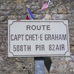 Picauville, plaque Captain Graham
