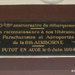 Putot-en-Auge, plaque 6th Airborne Division