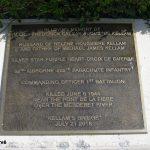 Sainte-Mère-Église, parc mémorial La Fière, plaque Major Kellam