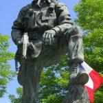 Sainte-Mère-Église, parc mémorial La Fière, monument Iron Mike
