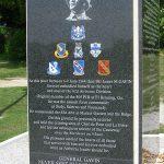 Sainte-Mère-Église, parc mémorial La Fière, plaque General Gavin