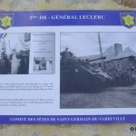 Saint-Germain-de-Varreville, plaque 2e DB général Leclerc