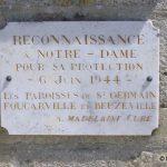 Saint-Germain-de-Varreville, plaque 6 juin 1944
