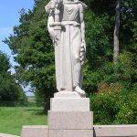 Colleville-sur-Mer – Saint-Laurent-sur-Mer, cimetière américain, statue allégorie la France