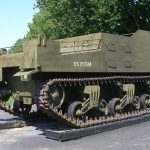Colleville-sur-Mer, Overlord Museum, char M7 Sexton