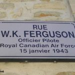 Saint-Martin-des-Entrées, plaque Sergeant Ferguson