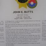Cherbourg-en-Cotentin, le musée de la Libération - plaque Médaille d'Honneur John Butts