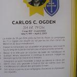 Cherbourg-en-Cotentin, le musée de la Libération - plaque Médaille d'Honneur Carlos Ogden