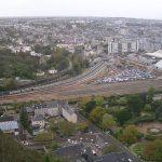 Cherbourg-en-Cotentin, la ville et la gare vues du fort du Roule
