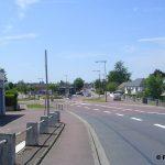 Saint-Hilaire-Petitville, la D974 vers Carentan