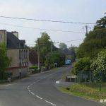 Foucarville, entrée nord du village