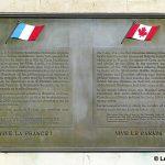 Caen, stèle canadienne du 9 juillet 1944