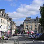 Valognes, le centre ville, place Vicq d'Azir